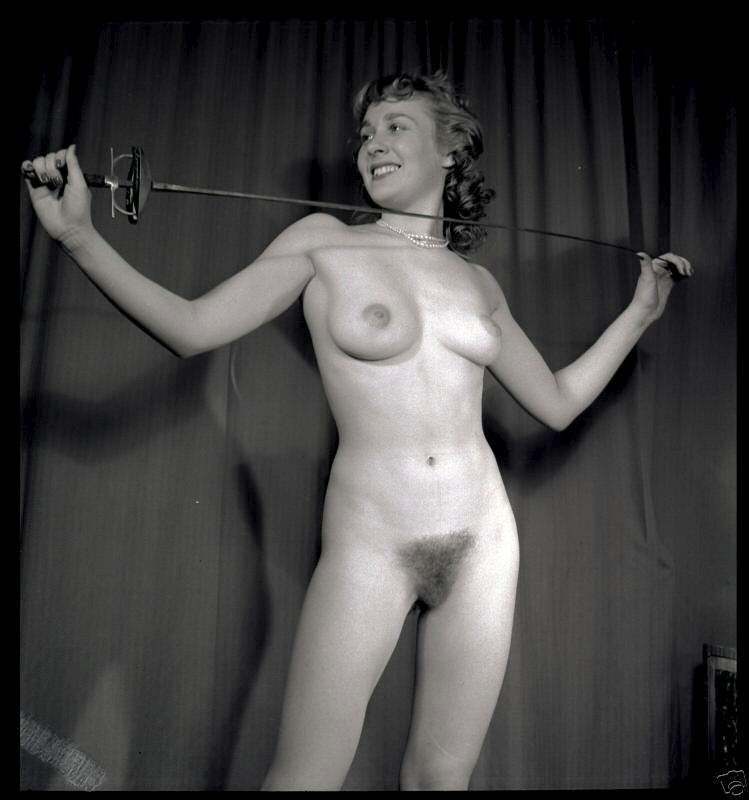 Black and white retro vintage hairy pussy you will