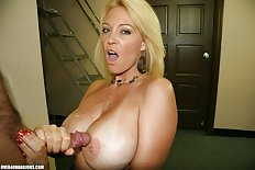 Blonde milf over 40 handjobs 1300X867 jpeg