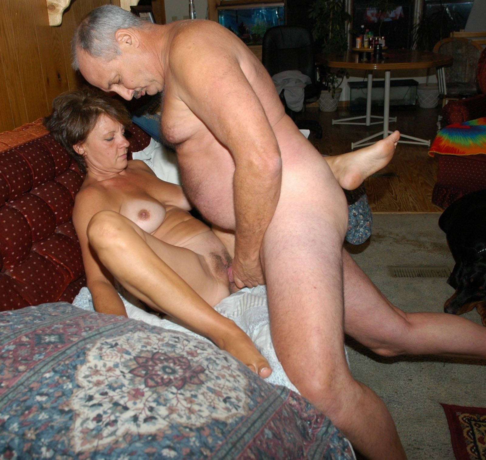 German mature couples fuck party