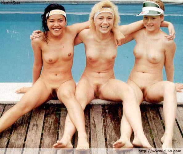 vintage naturist family